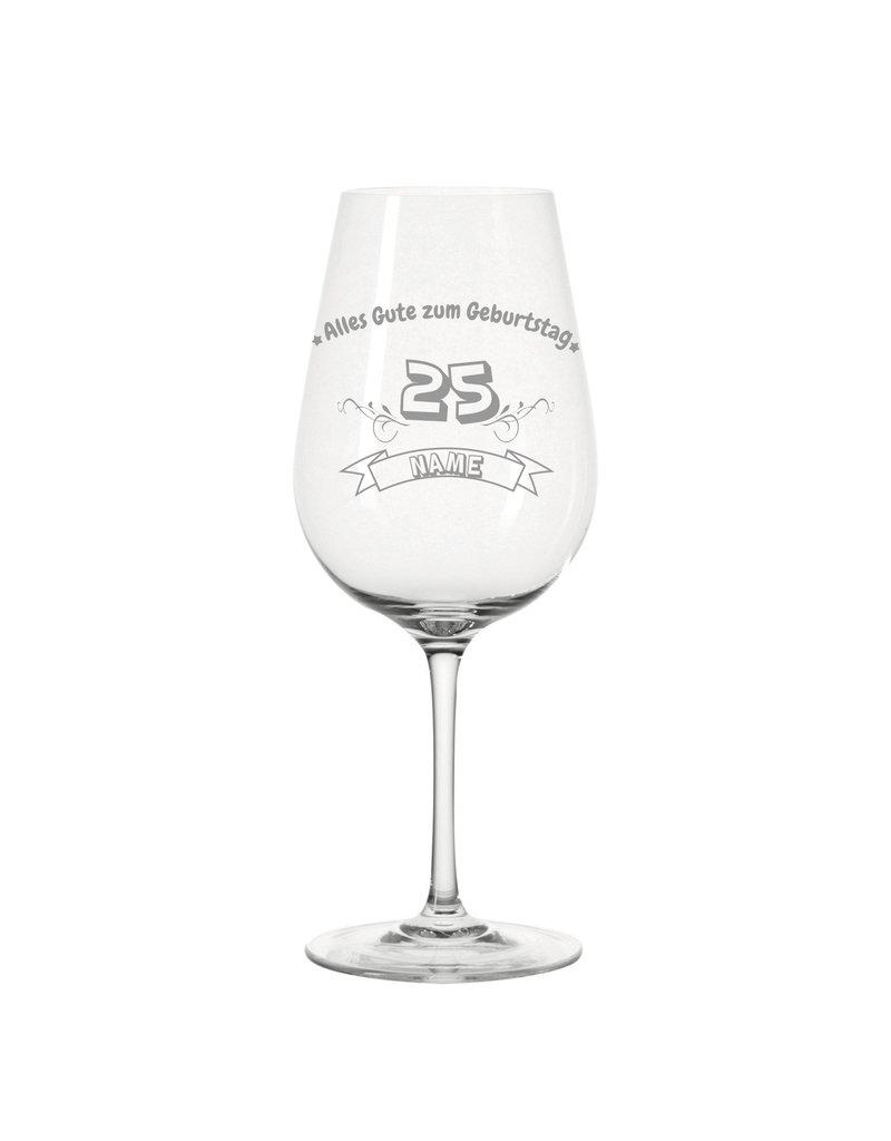 Leonardo Der besondere Genuss zum Geburtstag mit dem personalisierten Weinglas mit Gravur!
