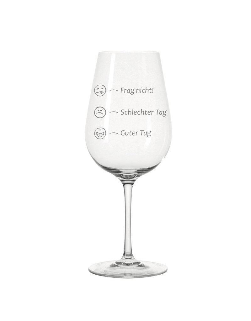 Leonardo Das Weinglas mit Stimmungsvoller Gravur eignet sich als witzige Geschenkidee!