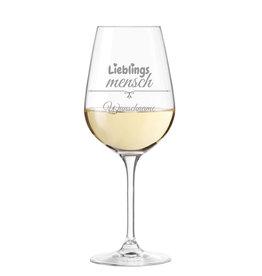 """Leonardo Weinglas """"Lieblingsmensch"""" mit persönlicher Gravur"""