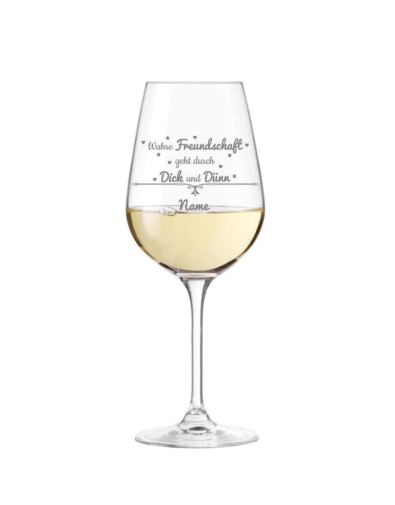 Leonardo Stoße an auf wahre Freundschaft mit dem Weinglas der Marke Leonardo mit persönlicher Gravur!