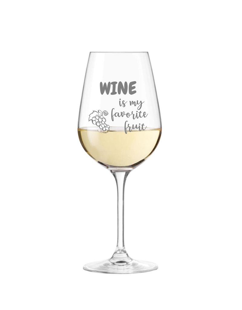 Leonardo Das Weinglas mit lustigem Spruch eignet sich als Geschenkidee für viele Anlässe!