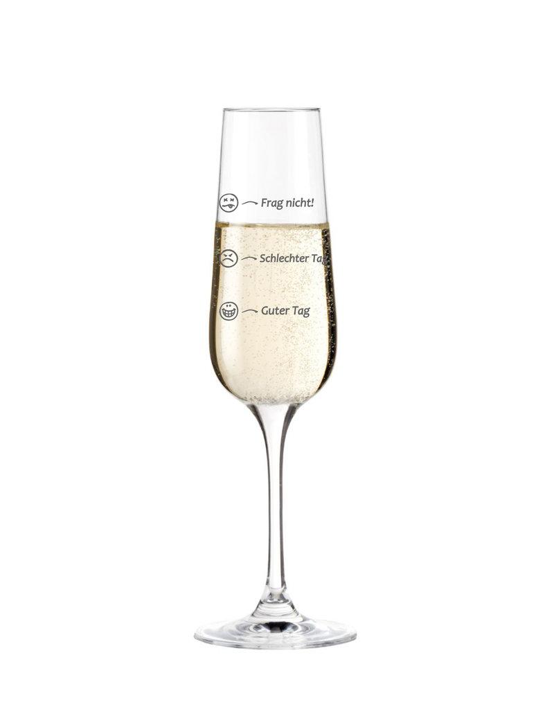 Leonardo Das Sektglas mit stimmungsvoller Gravur bringt dich garantiert wieder in Stimmung!