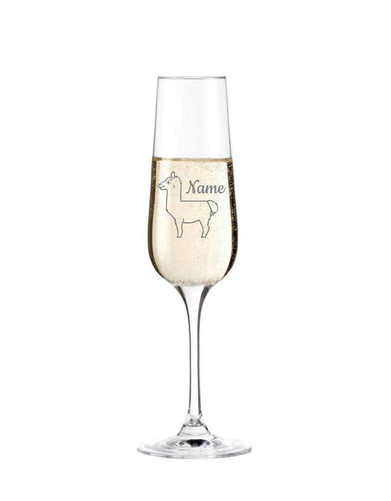 Leonardo Das Sektglas mit Wunschname und Alpaka eignet sich als Geschenk zu vielen Anlässen!