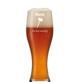 """Leonardo Weizenbierglas """"Thor´s Hammer"""" persönliche Gravur"""