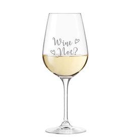 "Leonardo Weinglas "" Wine Not? "" Gravur"