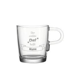 """Leonardo Glas Tasse """"coolster Chef"""" mit persönlicher Gravur"""