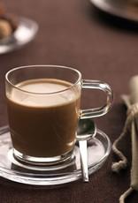 Leonardo Verschenke Freude mit der Glas Tasse mit Gravur für den coolsten Rentner!