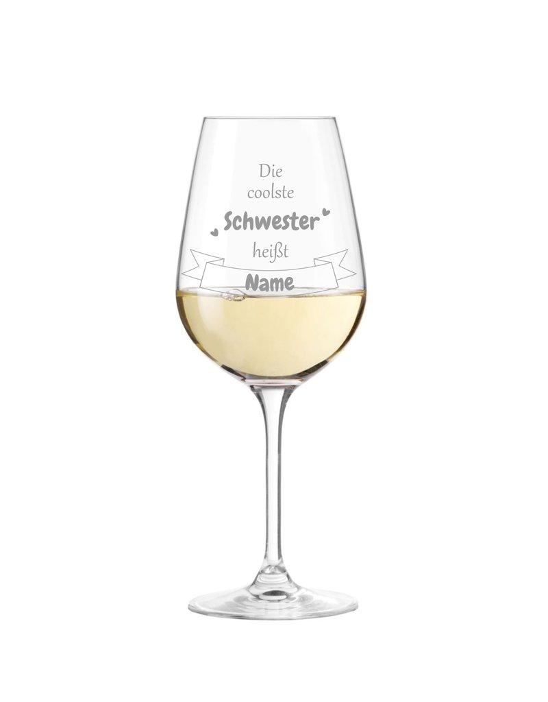 Leonardo Dank persönlicher Gravur wird das Weinglas für die coolste Schwester zum einzigartigen Geschenk!