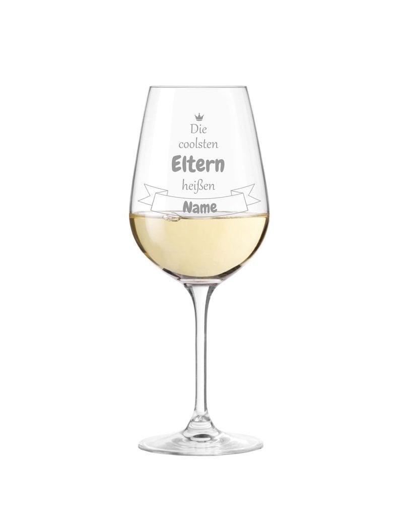 Weinglas Mit Spruch Die Coolsten Eltern Personliche Gravur Ks Laserdesign