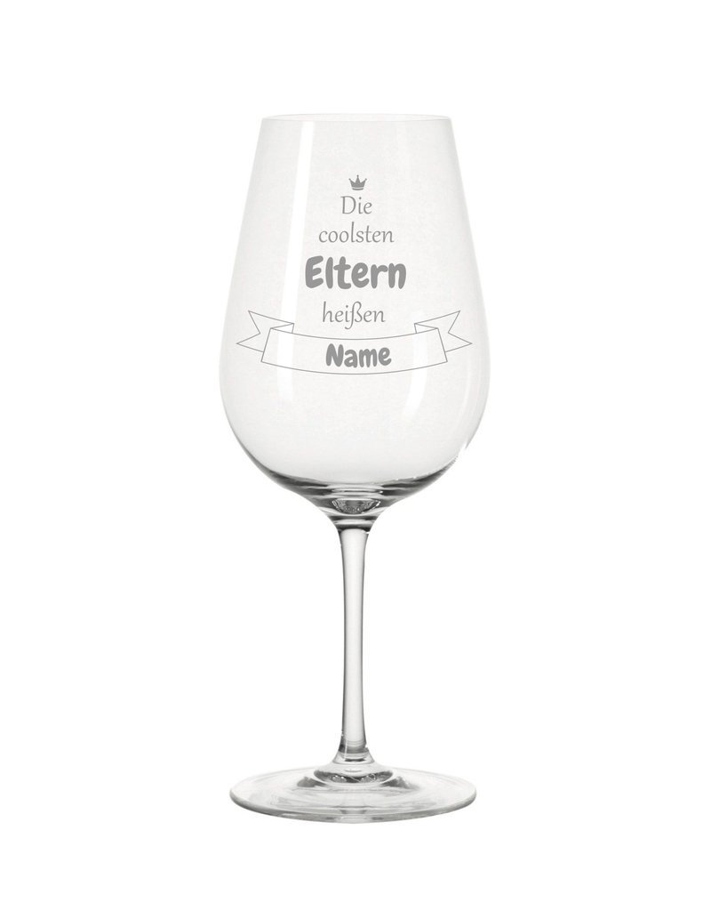 Leonardo Dank persönlicher Gravur wird das Weinglas für die coolsten Eltern zum einzigartigen Geschenk!