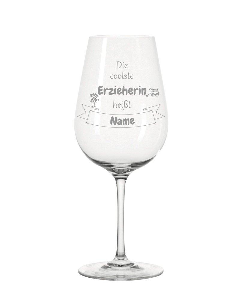 Leonardo Dank persönlicher Gravur wird das Weinglas für  die coolste Erzieherin zum einzigartigen Geschenk!