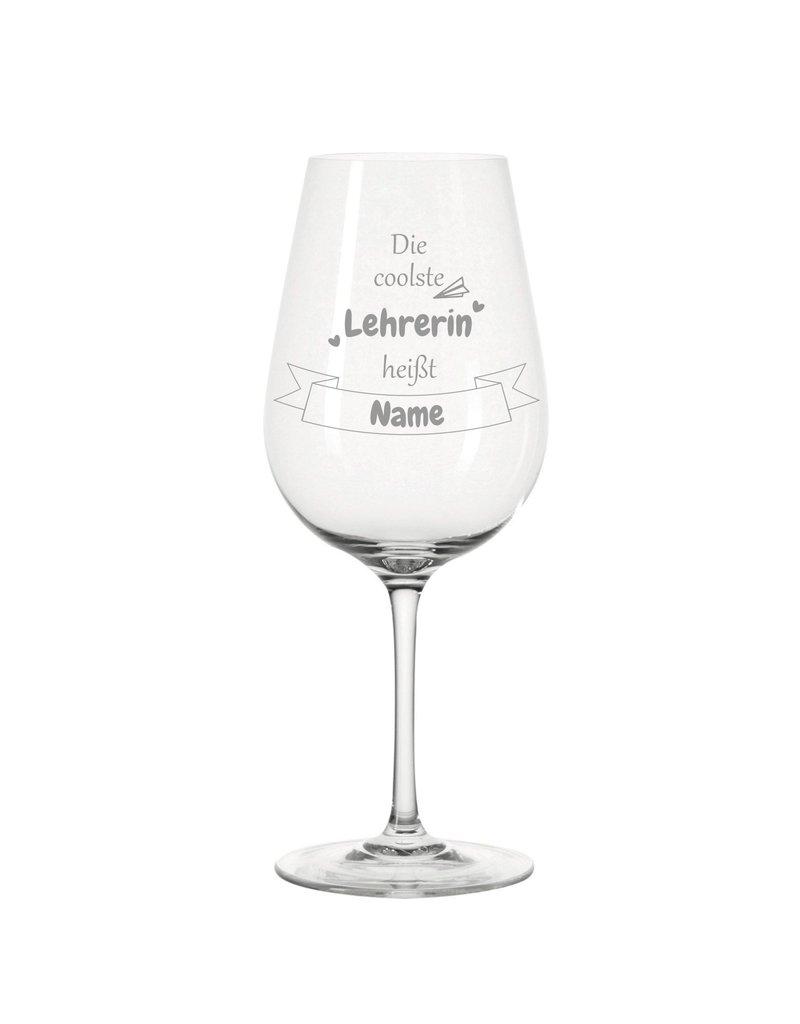 Leonardo Dank persönlicher Gravur wird das Weinglas für die coolste Lehrerin zum einzigartigen Geschenk!