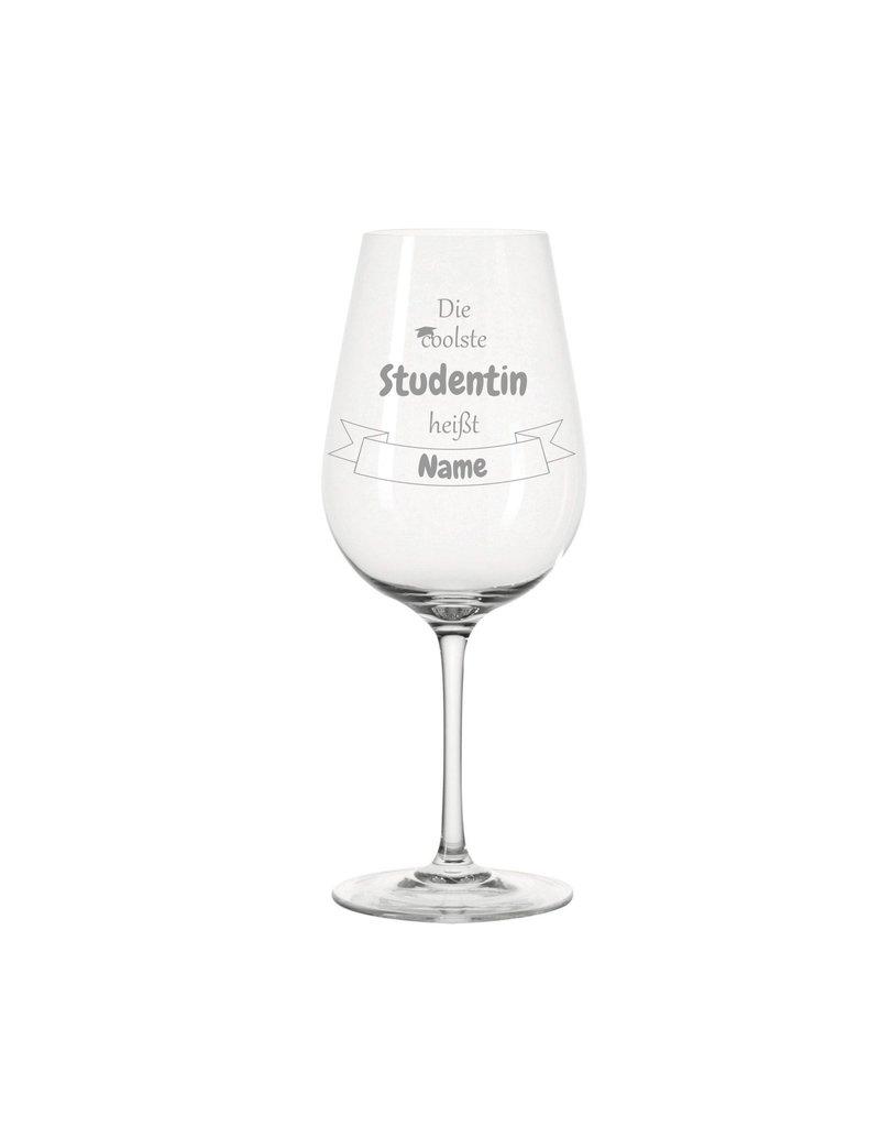 Leonardo Dank persönlicher Gravur wird das Weinglas für  die  coolste Studentin zum einzigartigen Geschenk!