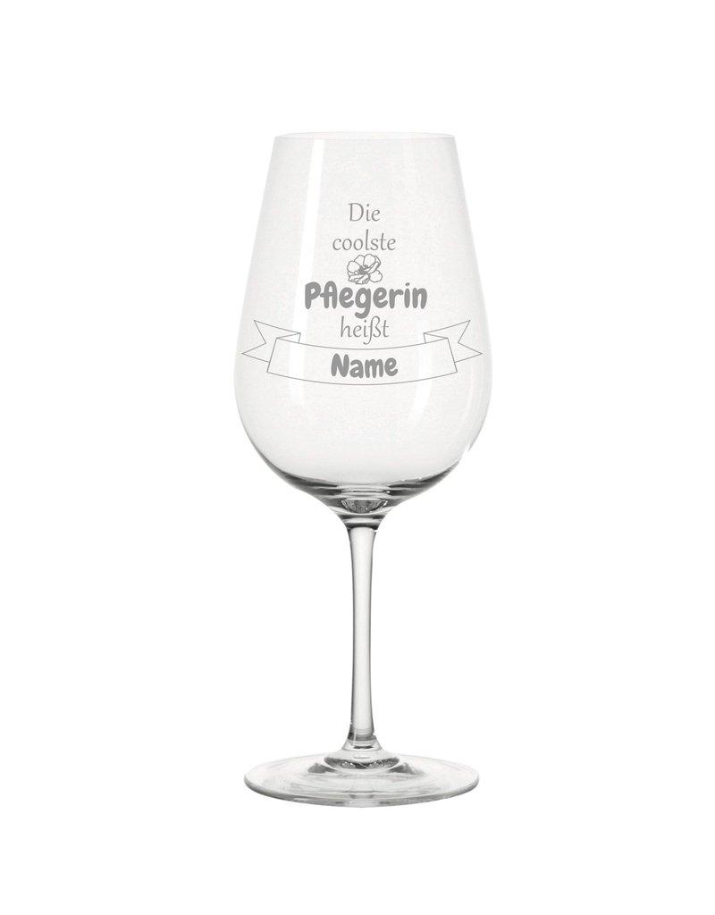 Leonardo Dank persönlicher Gravur wird das Weinglas für die  coolste Pflegerin zum einzigartigen Geschenk!