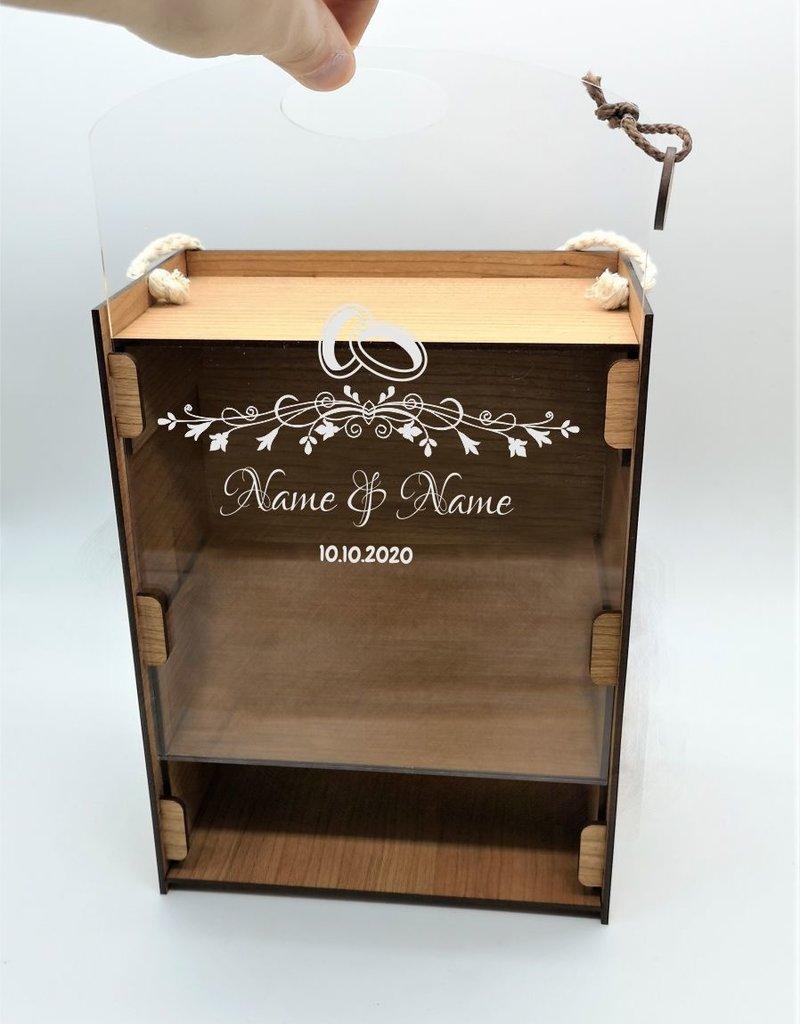 KS Laserdesign Eine einzigartige Geschenkidee zur Hochzeit! Personlisiere das Geschenkset mit deiner persönlichen Gravur
