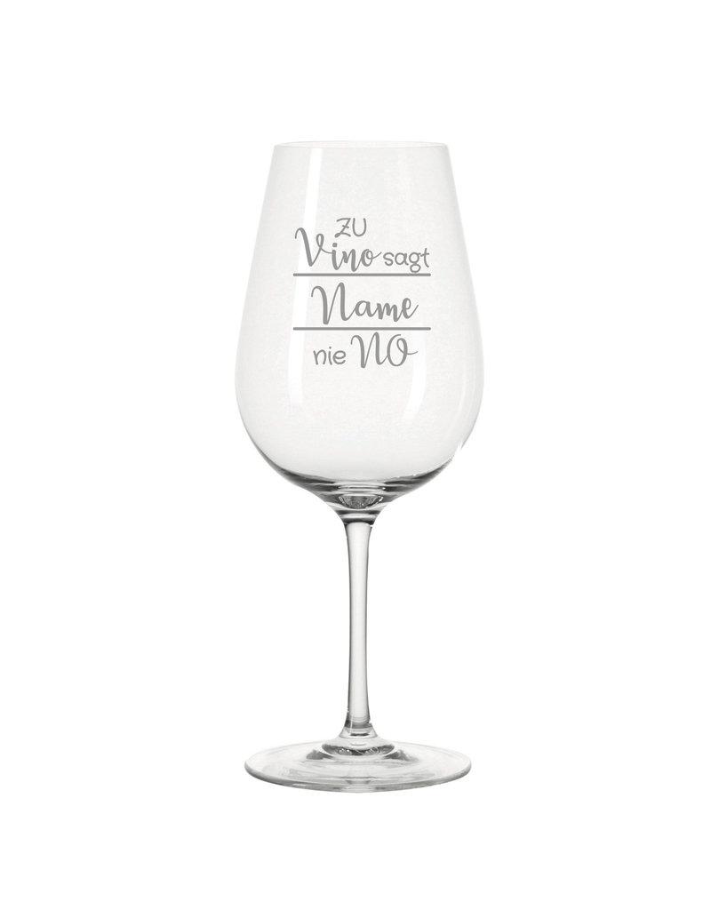 Leonardo Das Weinglas mit lustigem Spruch eignet sich zu vielen Anlässen und kommt besonders gut bei Weinliebhabern an!
