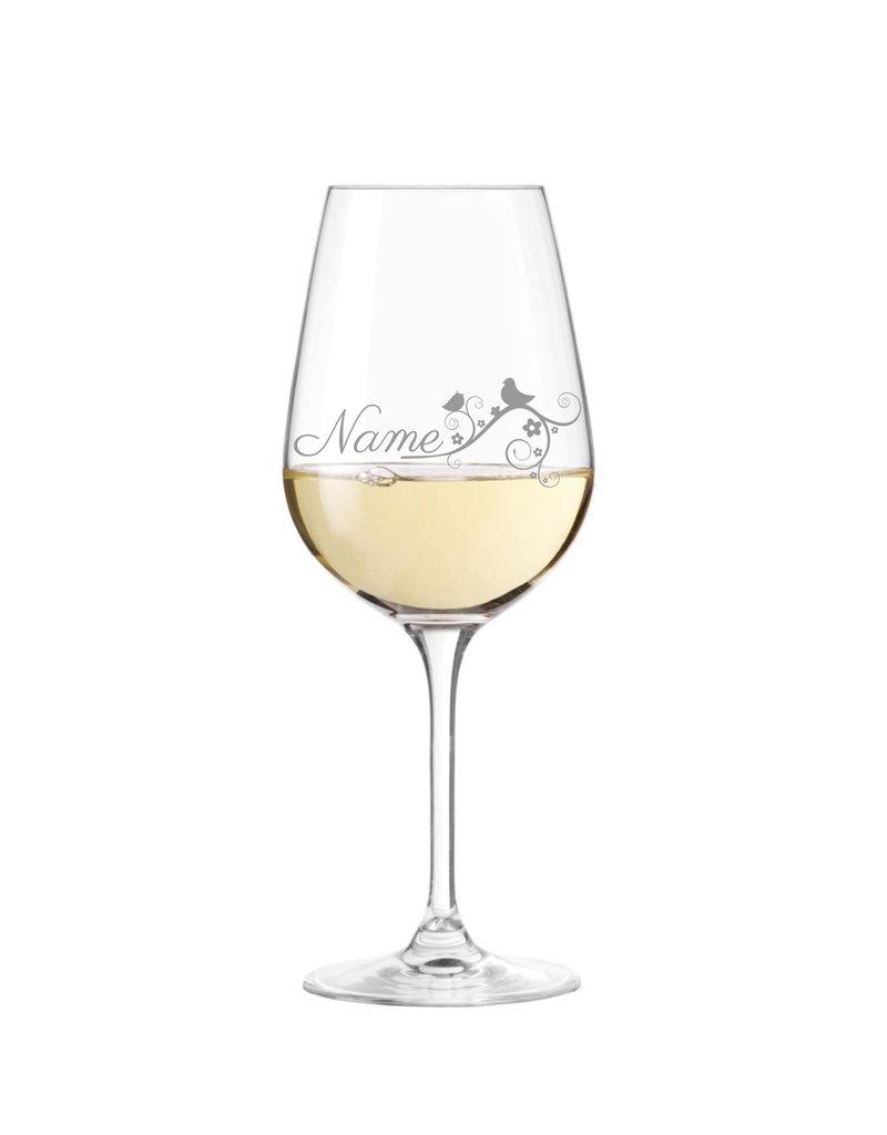 Leonardo Personalisiere das Weinglas im Naturdesign mit persönlicher Gravur!