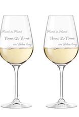 Leonardo Freude verschenken mit den Leonardo Weingläser mit schönem Spruch zur Liebe!
