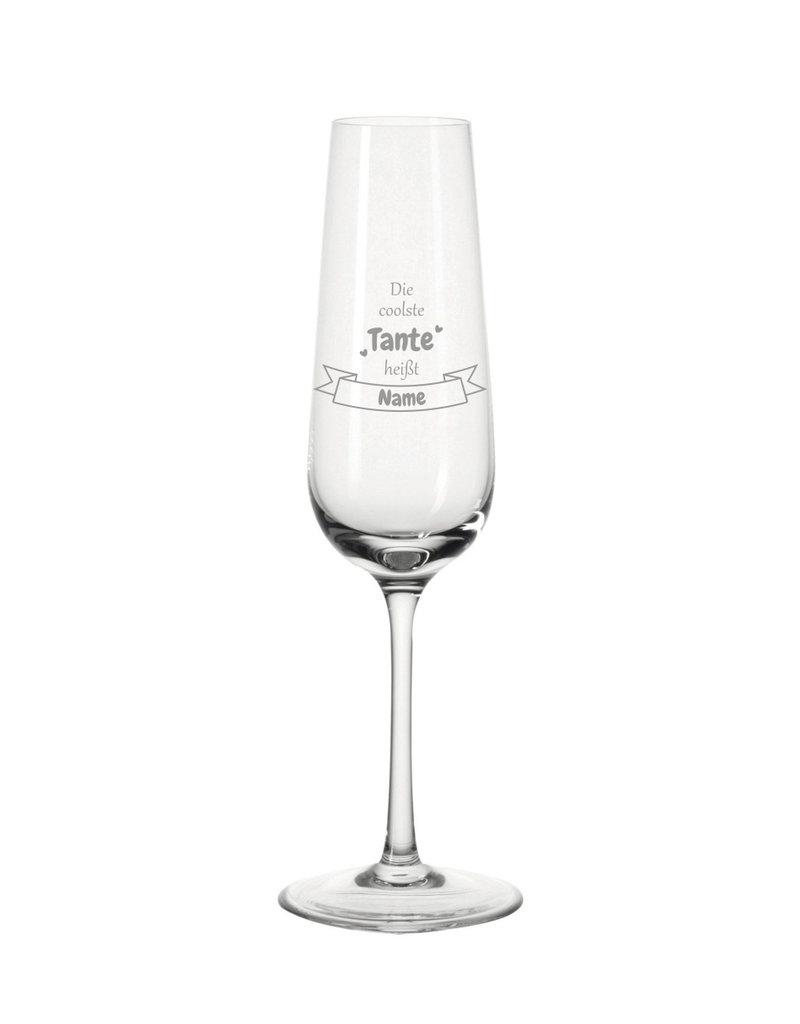 Leonardo Mache das Sektglas für die coolste Tante einzigartig mit deiner persönlichen Gravur !