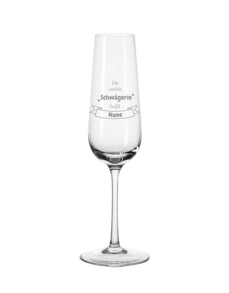 Leonardo Mache das Sektglas für die coolste Schwägerin einzigartig mit deiner persönlichen Gravur !
