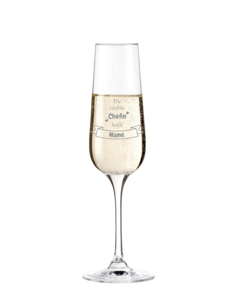 Leonardo Mache das Sektglas für die coolste Chefin einzigartig mit deiner persönlichen Gravur !