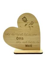 KS Laserdesign Das Deko Herz mit schönem Spruch für die beste Oma der Welt!