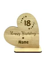 KS Laserdesign Personalisiere das Deko Herz zum 18. Geburtstag mit Wunschname für dein einzigartiges Geschenk!