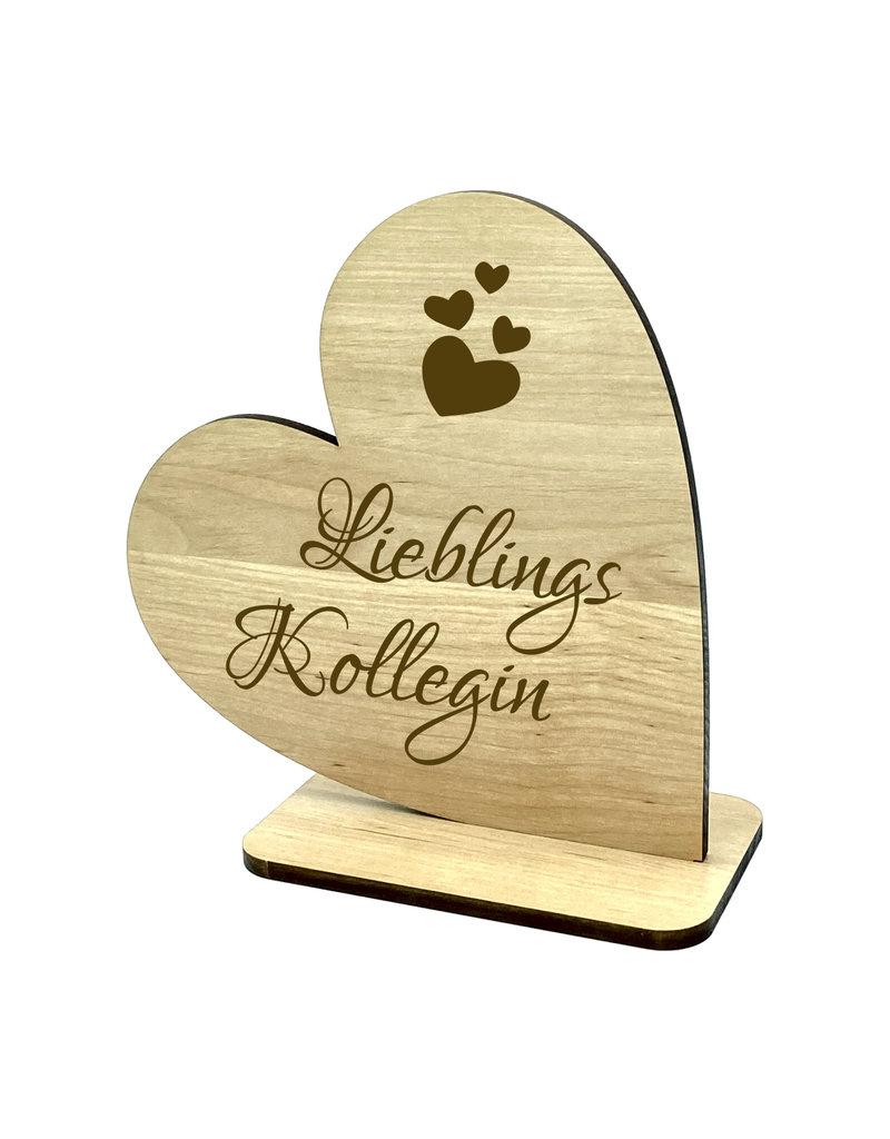 KS Laserdesign Das Dekoherz graviert mit schönem Schriftzug eignet sich als ideales Geschenk für die beste Kollegin!