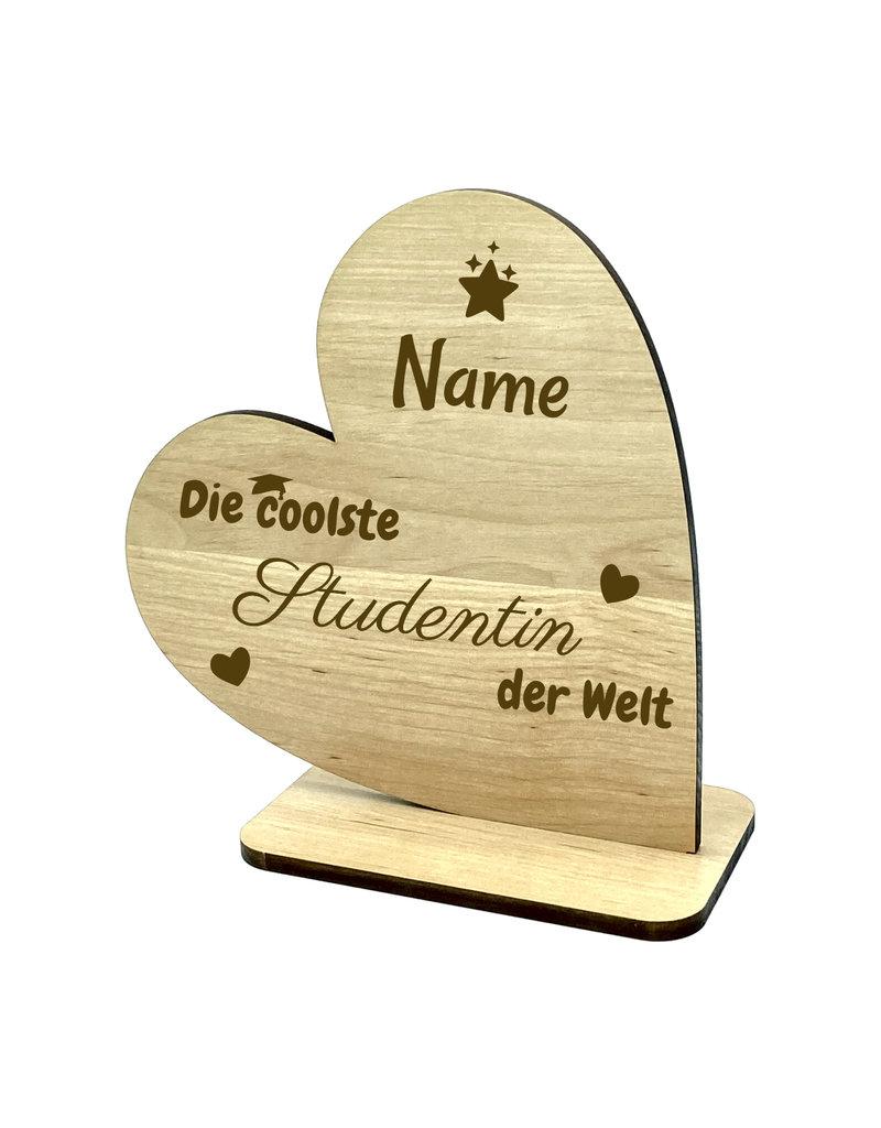 KS Laserdesign Personalisiere das Deko Herz für die coolste Studentin mit persönlicher Gravur !