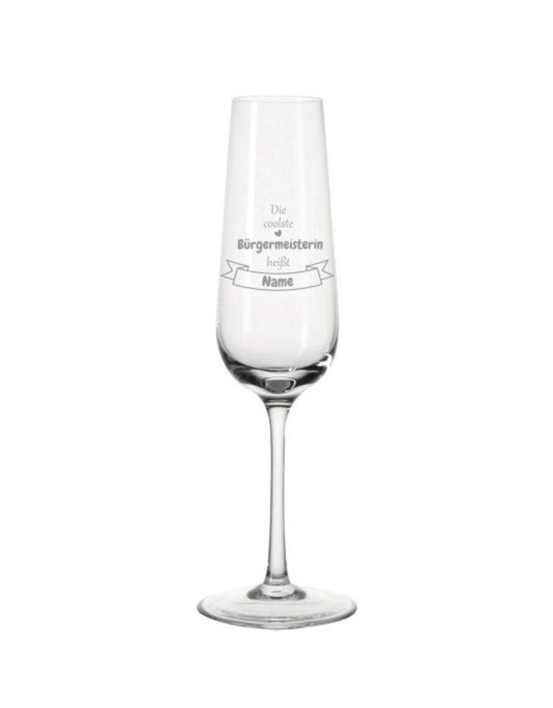 Leonardo Mache das Sektglas für den coolsten Bürgermeister einzigartig mit deiner persönlichen Gravur!