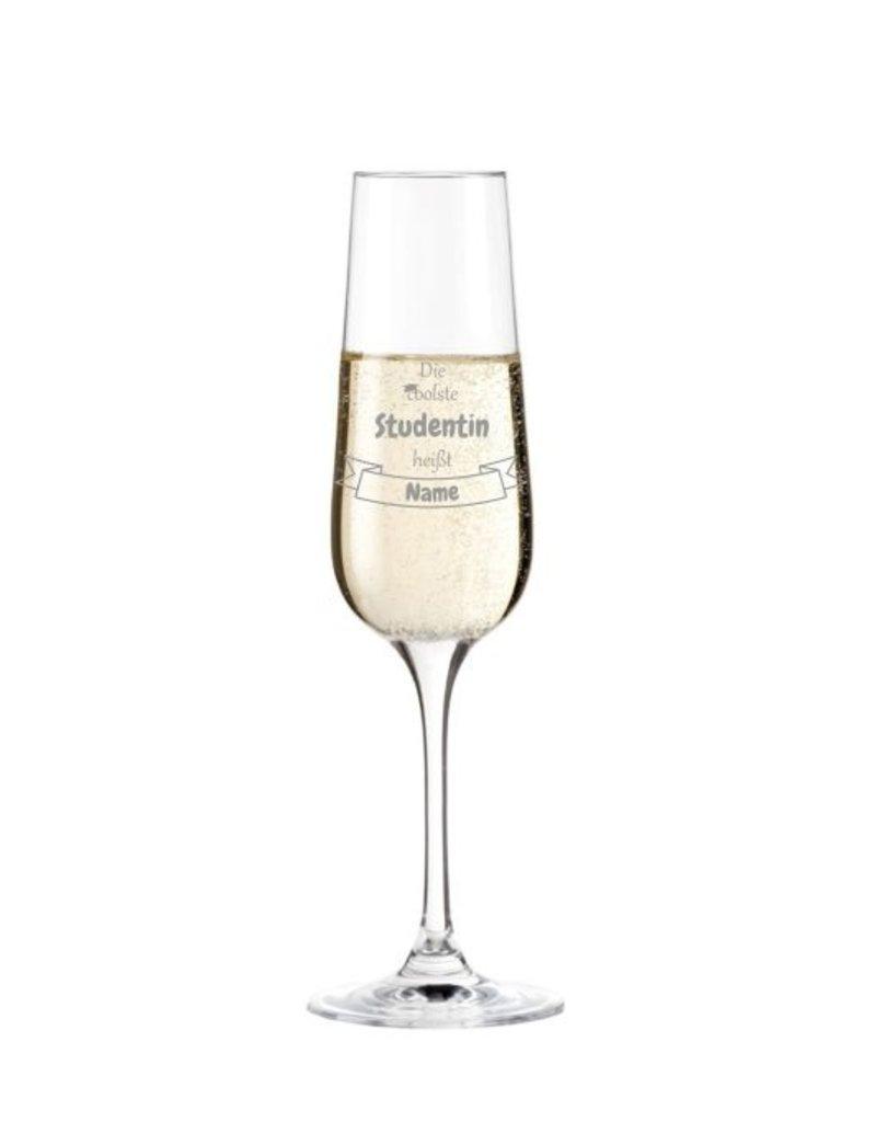 Leonardo Mache das Sektglas für die coolste Studentin einzigartig mit deiner persönlichen Gravur!