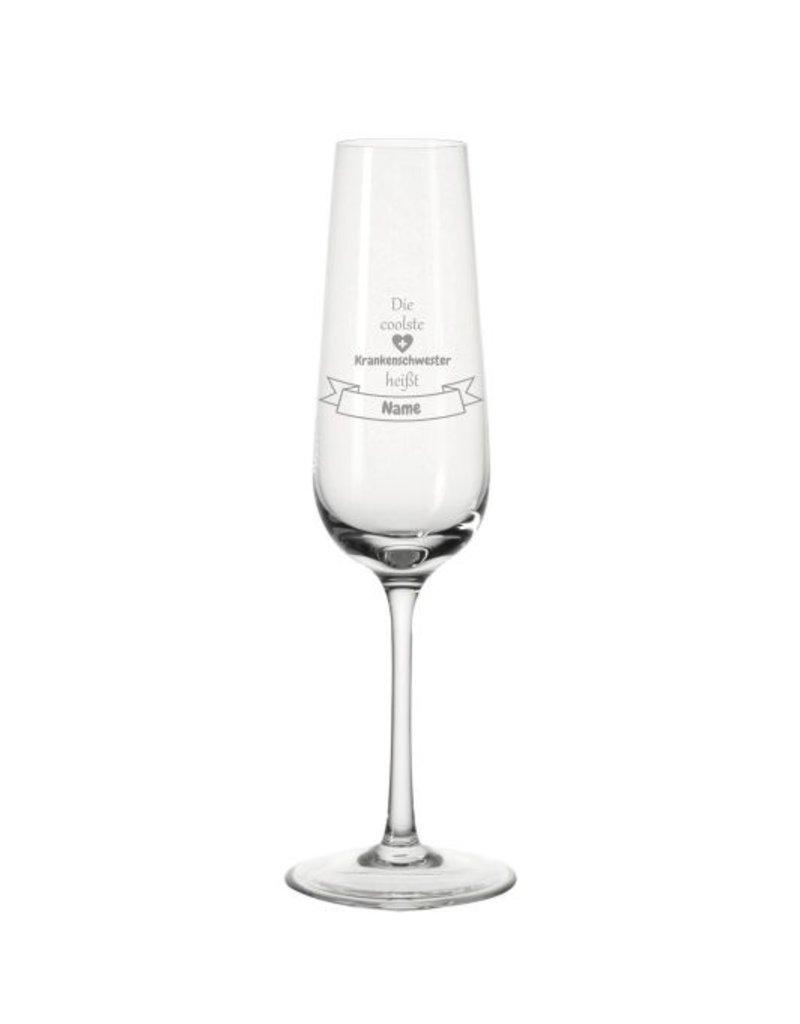 Leonardo Mache das Sektglas für die coolste Krankenschwester einzigartig mit deiner persönlichen Gravur!