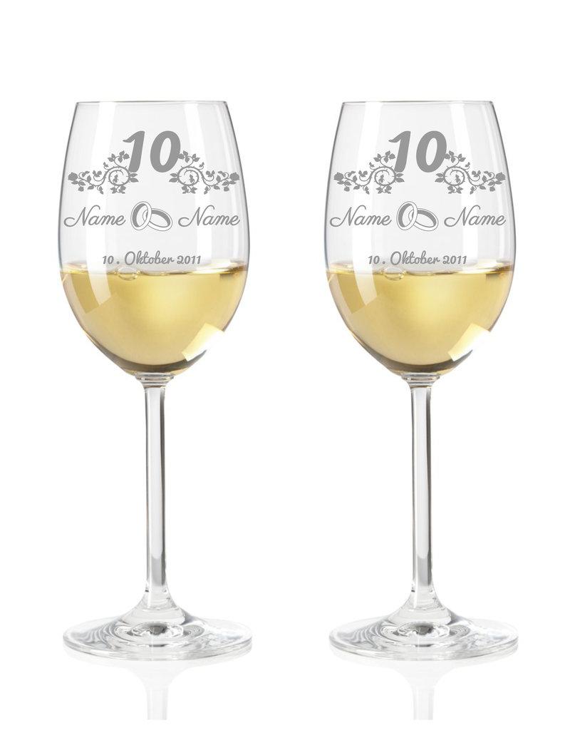 Leonardo Immer eine tolle Geschenkidee, das Weinglas Set zum 10-Jährigen Jubiläum der Rosenhochzeit!
