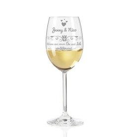 """Leonardo Weinglas DAILY """"Wenn aus einem Du und Ich ein Wir wird""""  persönliche Gravur"""