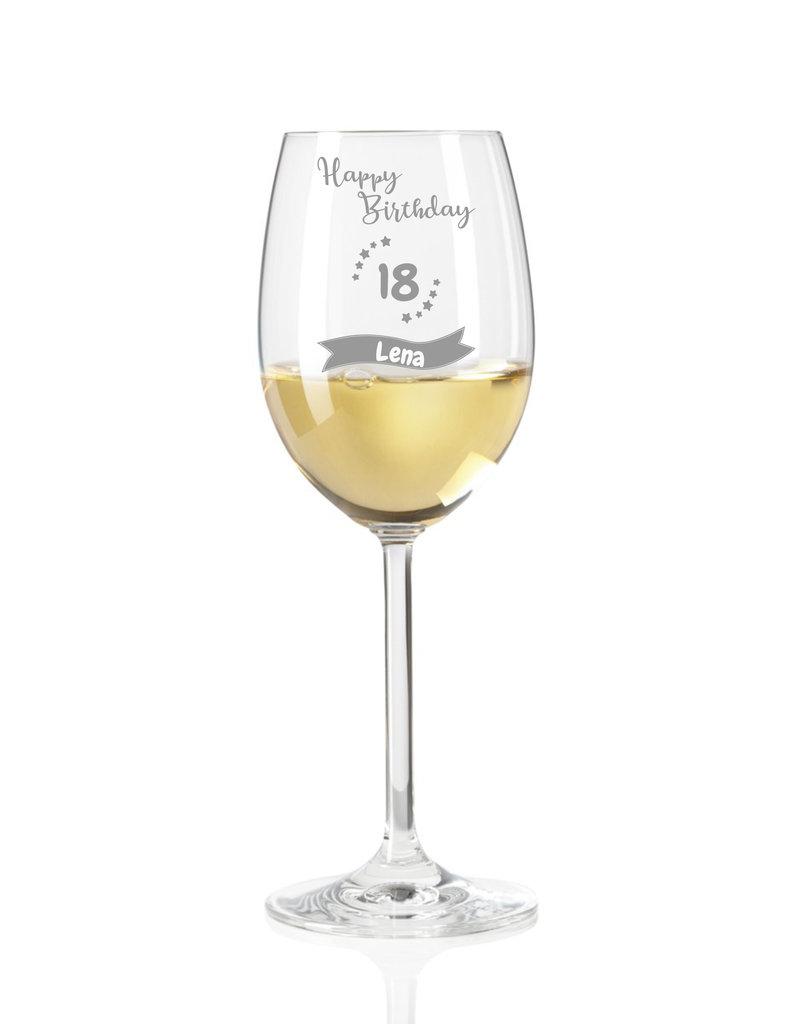 Leonardo Dank persönlicher Gravur wird das Weinglas für den 18. Geburtstag zum einzigartigen Geschenk!