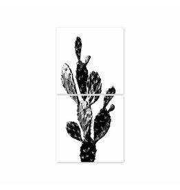 Boubouki Muur/tegelsticker Kaktus