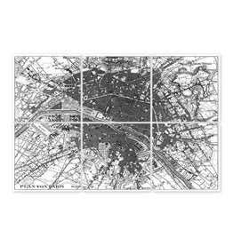 Boubouki Paris Map Wall Stickers