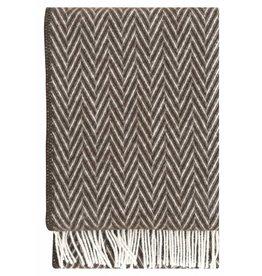 Lapuan Kankurit Brown and White Wool IIDA Blanket