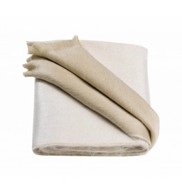 Alpacaloca White Beige Alcapa Double Face Scarf