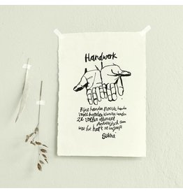 Sukha A3 Abaca Paper Handwerk Print