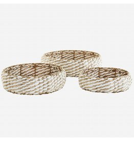 Madam Stoltz Wicker trays rond