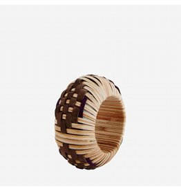 Madam Stoltz Natural Bamboo and Leather Napkin Ring