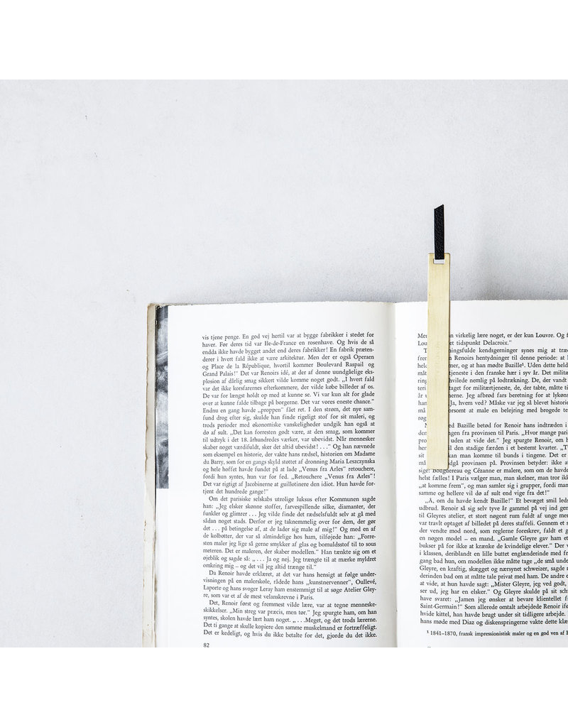 Monograph set van 2  boekenleggers  brass /  leer