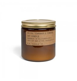 P.F. Candle & Co No.4 Teakwood & Tobacco geurkaars Large