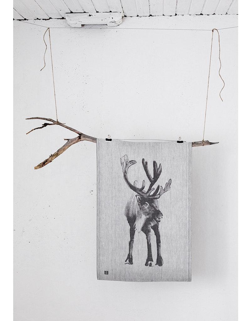 "Lapuan Kankurit Kitchentowel with moose ""Poro"" designer Teemu Jarvi"