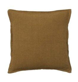 Bungalow soft  linnen kussenhoes 50x50cm pecan