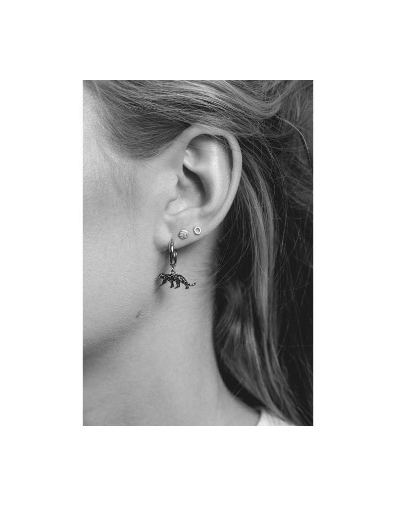 All The Luck In The World Earring 'Leopard' Silver