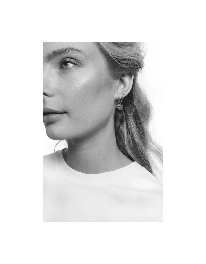 All The Luck In The World Earring 'Lips' Silver