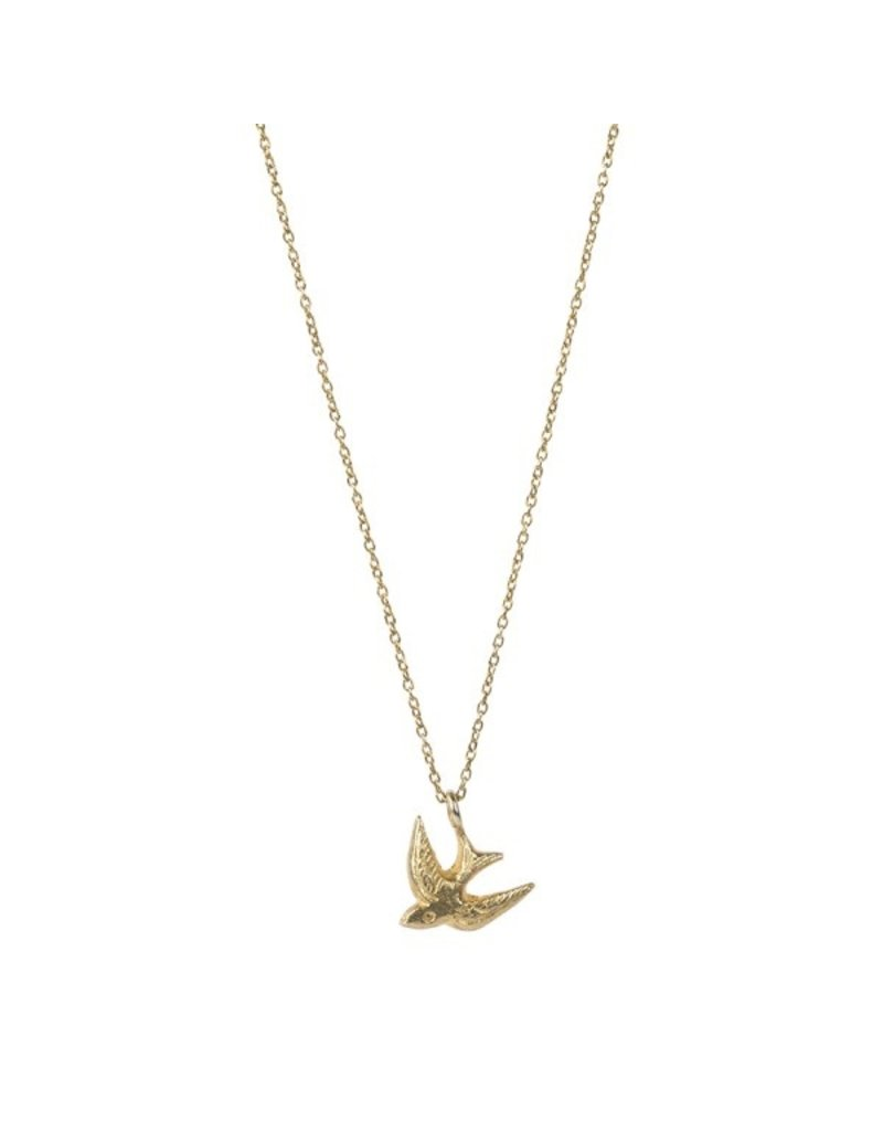A Beautiful Story Necklace 'Swallow' Gold