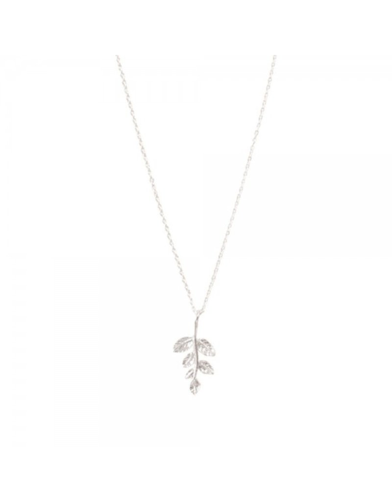 A Beautiful Story Necklace 'Olive Branch' Silver
